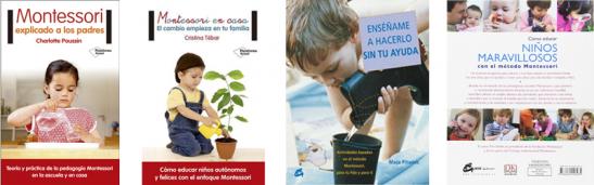 4 libros montessori
