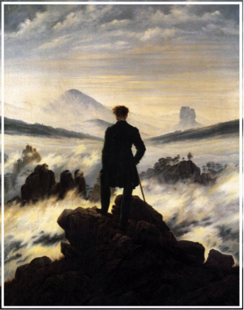 viajero frente al mar de niebla