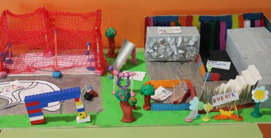Imagen de la maqueta del patio que quiere construir el colegio Mestre Martínez Alonso