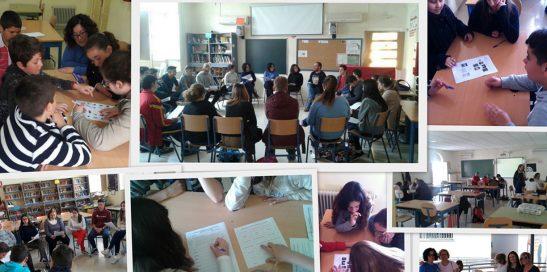 Imagen: Collage con varias fotografías del IES Sácilis realizando Prácticas Educativas de Éxito.