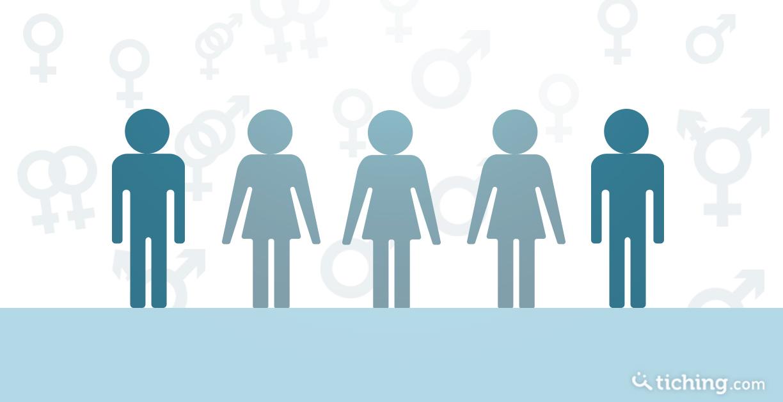 figuras masculinas y femeninas con símbolos que representan la diversidad sexual en el aula.