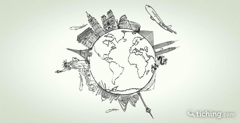 Imagen del post El impacto de los programas europeos: globo terráqueo rodeado por con dibujos de algunos monumentos conocidos de diferentes partes del mundo.