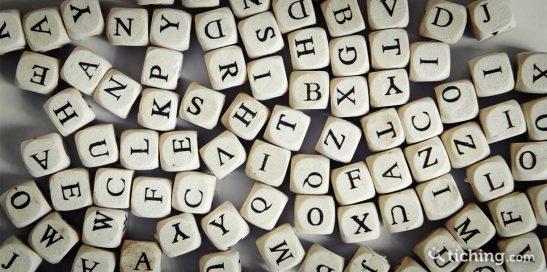 Imagen conciencia fonológica: cubos con distintas letras