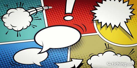 Imagen de el cómic como herramienta didáctica para enseñar historia: viñetas de cómic con distintos bocadillos.