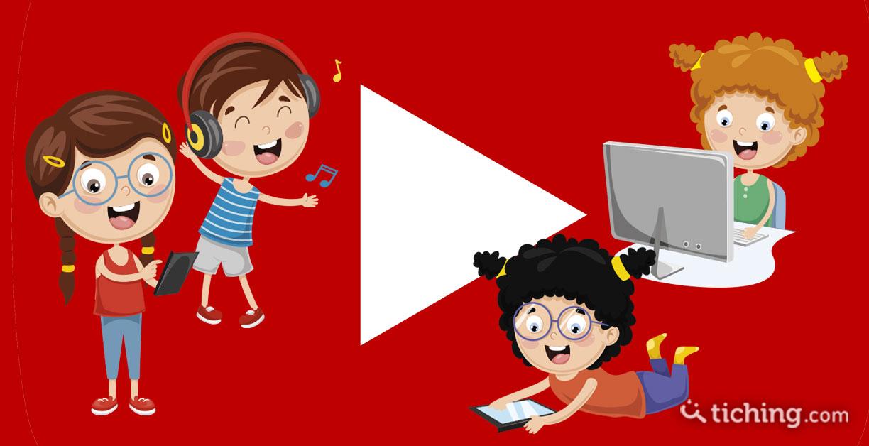 Aprendizaje activo con youtube: niños y niñas bailando, escuchando música, con la tablet...