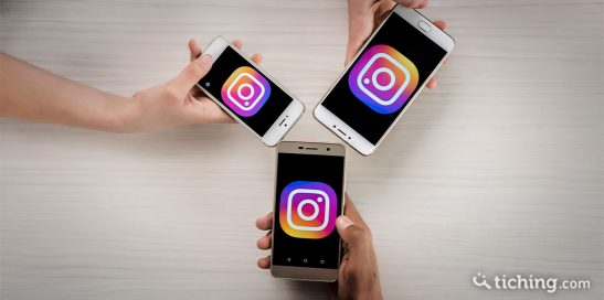 Smartphones con icono de Instagram para ilustrar sus posibilidades educativas